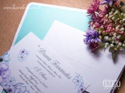 Convite 15 Anos Romântico Floral Aquarela Itália M 2018