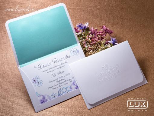 Convite de Debutante 15 Anos Romântico Floral Aquarela Itália M 2018