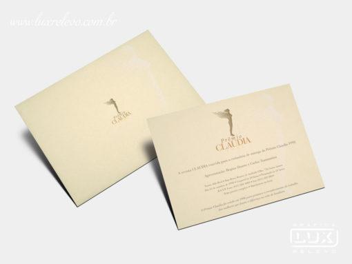 Convite Prêmio Claudia