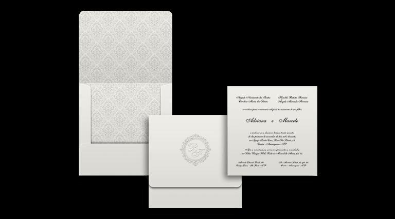 Crie seu Convite de Casamento Modelo Canadá