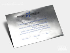 Diploma Certificado Reckitt & Colman