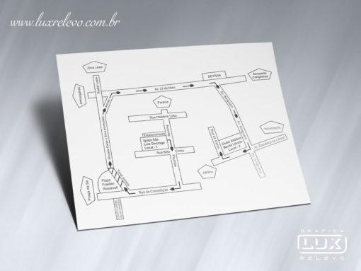 Acessório em Papelaria de Casamento Mapa