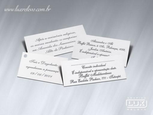 Acessório em Papelaria de Casamento Minicard