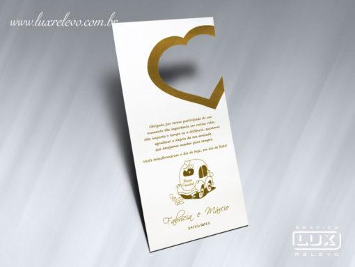 Acessório em Papelaria de Casamento Tag para Retrovisor Gramado